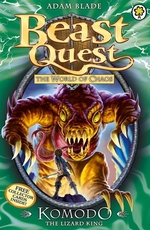 Book cover of BEAST QUEST 31 KOMODO THE LIZARD KING