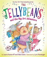 Book cover of JELLYBEANS & THE BIG ART ADVENTURE