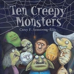 Book cover of 10 CREEPY MONSTERS