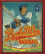 Book cover of BARBED WIRE BASEBALL