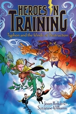 Book cover of HEROES IN TRAINING 05 TYPHON & THE WINDS