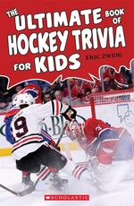 Book cover of ULTIMATE BOOK OF HOCKEY TRIVIA FOR KIDS