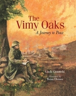 Book cover of VIMY OAKS - A JOURNEY TO PEACE