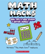 Book cover of MATH HACKS- COOL TIPS & LESS STRESS