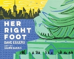 Book cover of HER RIGHT FOOT