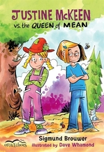 Book cover of JUSTINE MCKEEN VS THE QUEEN OF MEAN