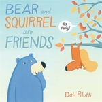 Book cover of BEAR & SQUIRREL ARE FRIENDS