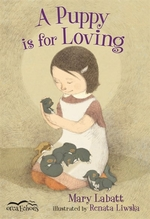 Book cover of PUPPY IS FOR LOVING