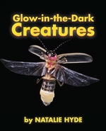 Book cover of GLOW-IN-THE-DARK CREATURES