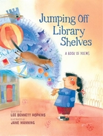 Book cover of JUMPING OFF LIBRARY SHELVES