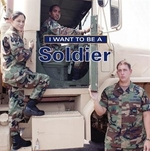 Book cover of I WANT TO BE A SOLDIER