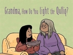 Book cover of GRANDMA HOW DO I LIGHT THE QULLIQ