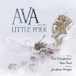 Book cover of AVA & THE LITTLE FOLK