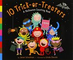 Book cover of 10 TRICK-OR-TREATERS A HALLOWEEN COUNTIN