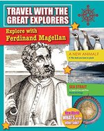 Book cover of EXPLORE WITH FERDINAND MAGELLAN