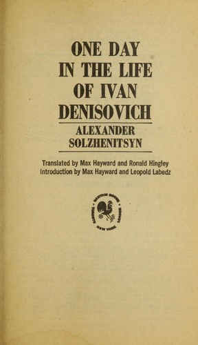 Book cover of 1 DAY IN THE LIFE OF IVAN DENISOVICH
