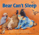 Book cover of BEAR CAN'T SLEEP