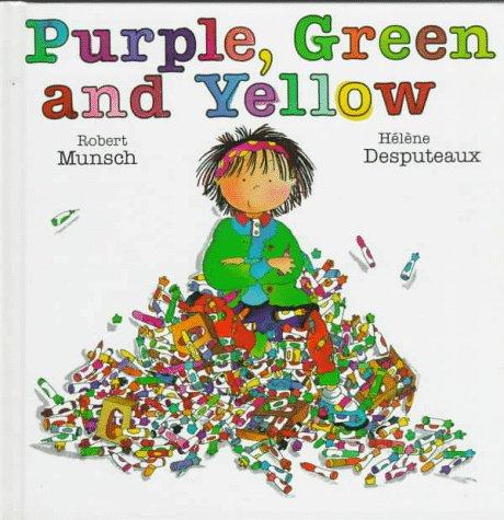 Book cover of PURPLE GREEN & YELLOW