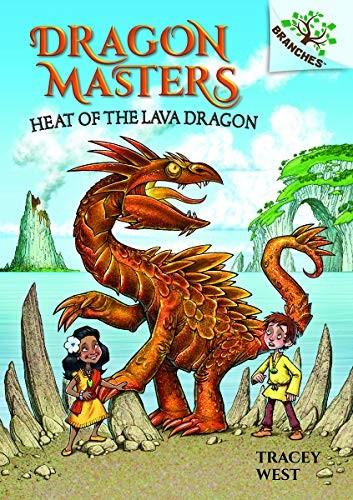 Book cover of DRAGON MASTERS 18 HEAT OF THE LAVA DRAGO
