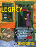 Book cover of LEGACY - WOMEN POETS OF THE HARLEM RENAI