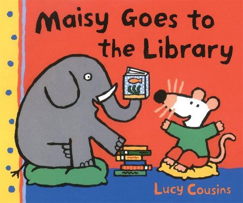 Book cover of MAISY GOES TO THE LIBRARY