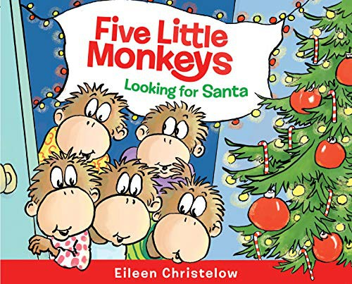 Book cover of 5 LITTLE MONKEYS LOOKING FOR SANTA